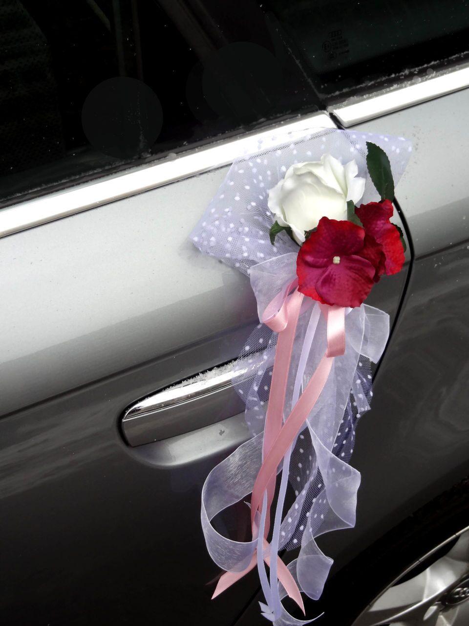 Как сделать цветы на зеркало свадебной машины